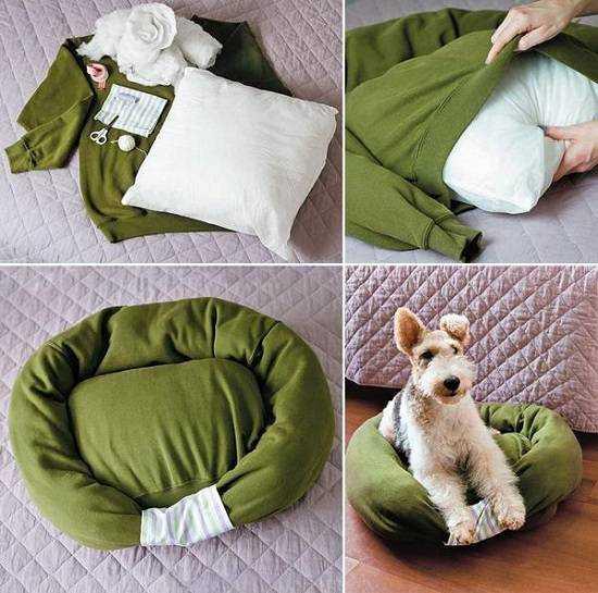 Как сделать собаке лежанку своими руками фото